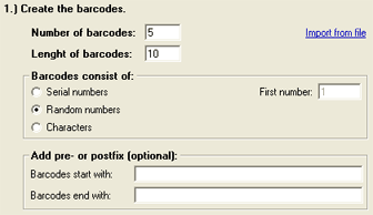 Create barcodes with the BarcodeChecker software