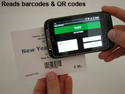 Check barcodes or QR codes with an Android smartphone.