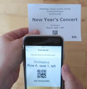 Check the barcode tickets with an iPhone.