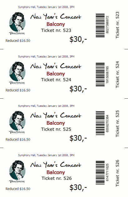 ... Print With TicketCreator On Plain Cardboard (optionally With Cutting  Marks)  Print Tickets Free Template